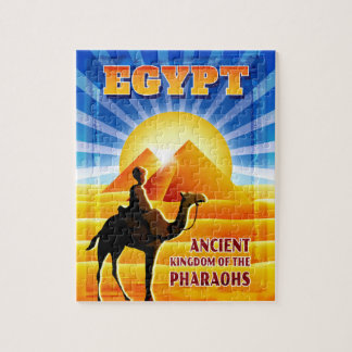 Sunset over the Pyramids Egypt Travel Illustration Puzzles