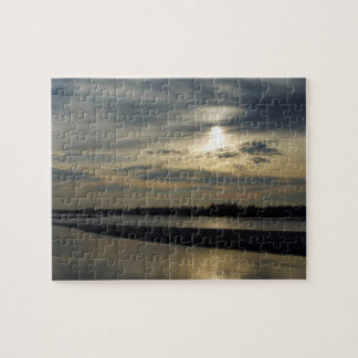 Sunset over the river jigsaw puzzle