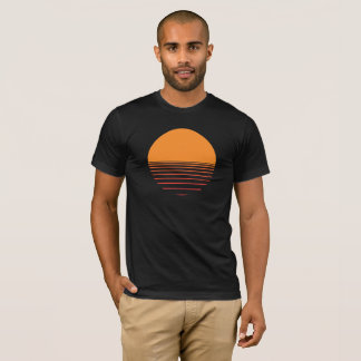 Sunset over the water design T-Shirt