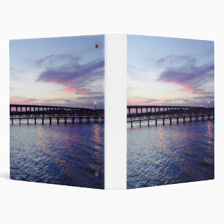 Sunset Over The Water Gifts Vinyl Binder