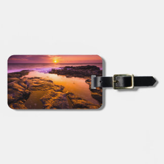 Sunset over tide pools, Hawaii Luggage Tag