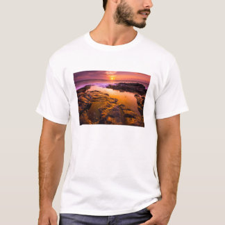 Sunset over tide pools, Hawaii T-Shirt