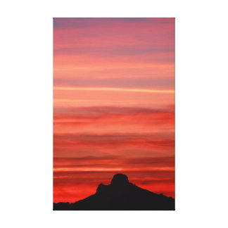 Sunset over Tucson Canvas Print