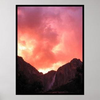 Sunset over Upper Falls Poster