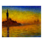 Sunset over Venice by Claude Monet Print