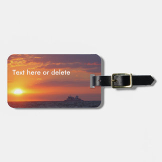 Sunset Over Water Cape May Luggage Tag