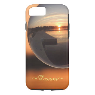 Sunset Over Water Crystal Ball - Dream iPhone 8/7 Case