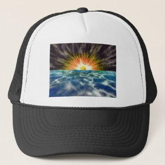 Sunset Over Water Trucker Hat