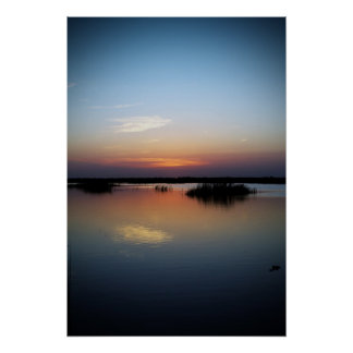 Sunset Over Wetlands Poster
