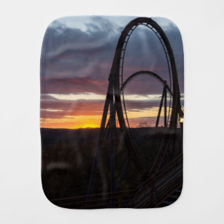 Sunset Over Wildfire Burp Cloth