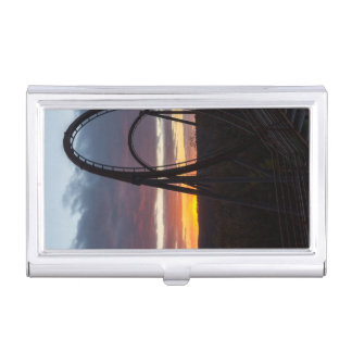 Sunset Over Wildfire Business Card Holder