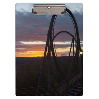 Sunset Over Wildfire Clipboard