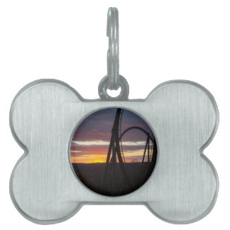 Sunset Over Wildfire Pet Tag