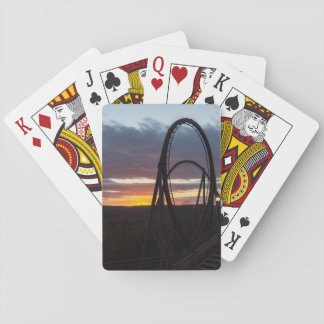 Sunset Over Wildfire Playing Cards