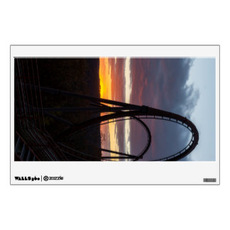 Sunset Over Wildfire Wall Sticker