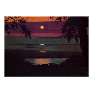 Sunset, painting by Felix Vallotton Poster
