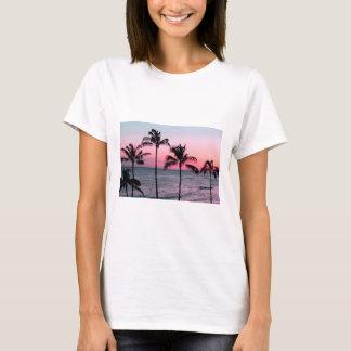 sunset / palm / beach t shirt