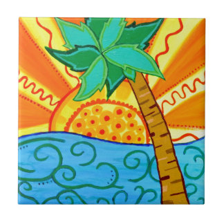 Sunset Palm Ceramic Tiles