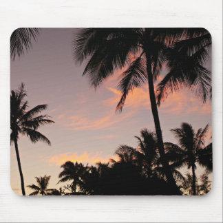 Sunset palm tree mouse mat
