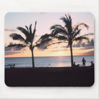 Sunset Palm Trees Mouse Pad