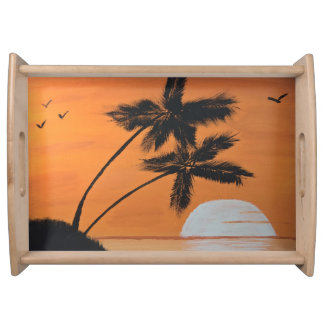 Sunset Palms Serving Tray