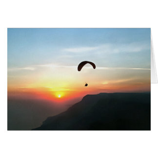 Sunset Paraglide Card