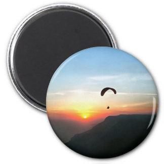 Sunset Paraglide Magnet