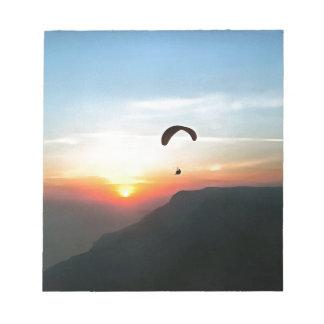 Sunset Paraglide Notepad