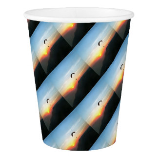 Sunset Paraglide Paper Cup