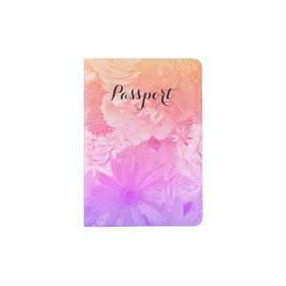 Sunset Pastel Floral Flowers Boho Journey Passport Holder