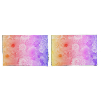Sunset Pastel Floral Flowers Boho Journey Pillowcase