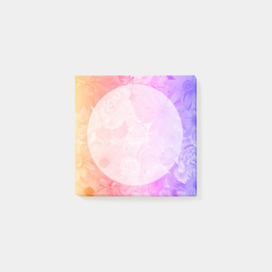 Sunset Pastel Floral Flowers Dot Boho Wedding Post-it® Notes