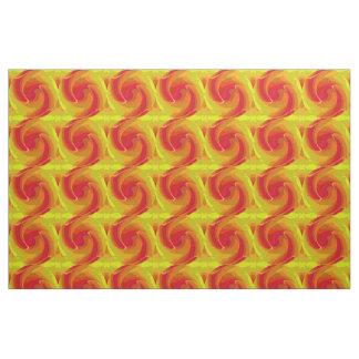 Sunset Pattern-Fuchsia/Red/Green/Brown/Yellow Fabric