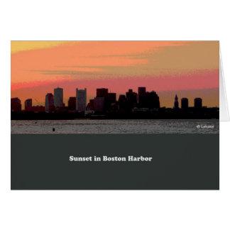 Sunset peace--blank card