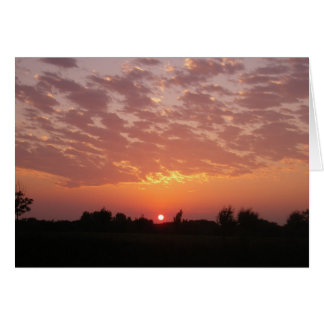 Sunset Peace Prayer Card