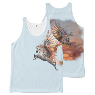 Sunset Pegasus All-Over Printed Unisex, pick color All-Over-Print Tank Top