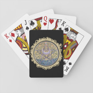 Sunset Pentacle Playing Cards - Black
