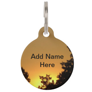 Sunset Pet Name Tag