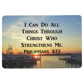 SUNSET PHILIPPIANS 4:13 SCRIPTURE DESIGN FLOOR MAT