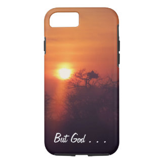 Sunset Phone Case with Customizable Text