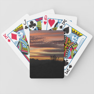 Sunset Photo Bicycle® Poker Playing Cards