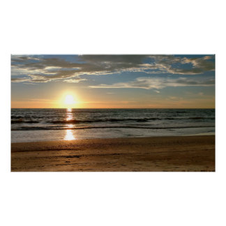 "Sunset Photo Poster Custom Size (42.48"" x 24.32"")"