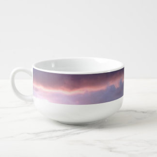 sunset photo soup bowl soup bowl with handle