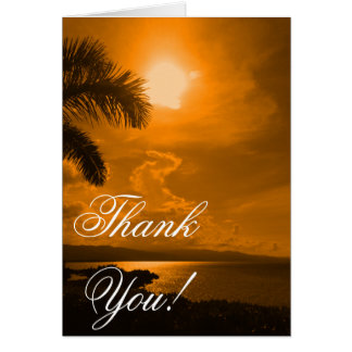 Sunset Picture Thank You Card
