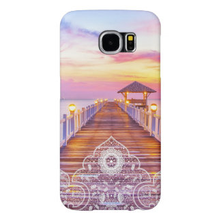 Sunset Pier Colorful Sky Lace Ornament Samsung Galaxy S6 Cases