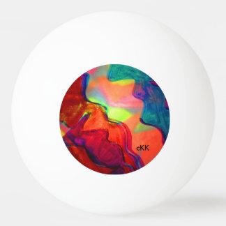 sunset ping pong ball