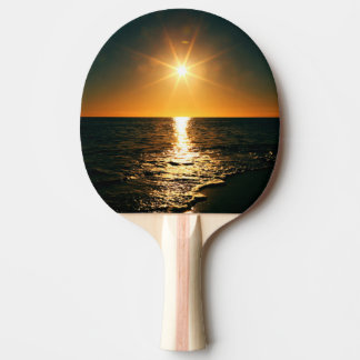 Sunset Ping Pong Paddle