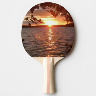 Sunset ping-pong paddle