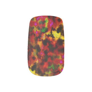 Sunset Plasma Clouds Nails Stickers
