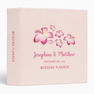 Sunset Plumeria Personalized Wedding Planner Binders